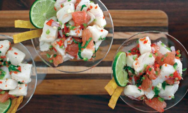 South American Sea Bass Ceviche